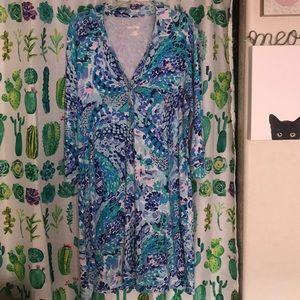 XL Lilly Pulitzer Long Sleeve Dress